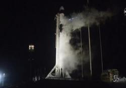 Spazio, il countdown del lancio Crew Dragon Primo volo taxi di Elon Musk per la Nasa da Cape Canaveral - LaPresse/AP