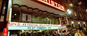 Un'immagine del Teatro Ariston di Sanremo