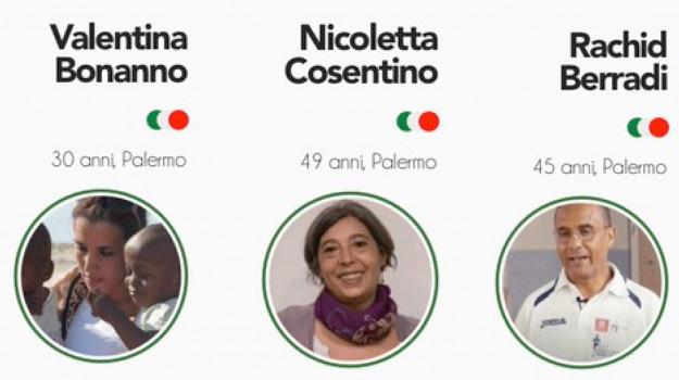 Nicoletta Cosentino, Rachid Berradi, Sergio Mattarella, Valentina Bonanno, Palermo, Cronaca