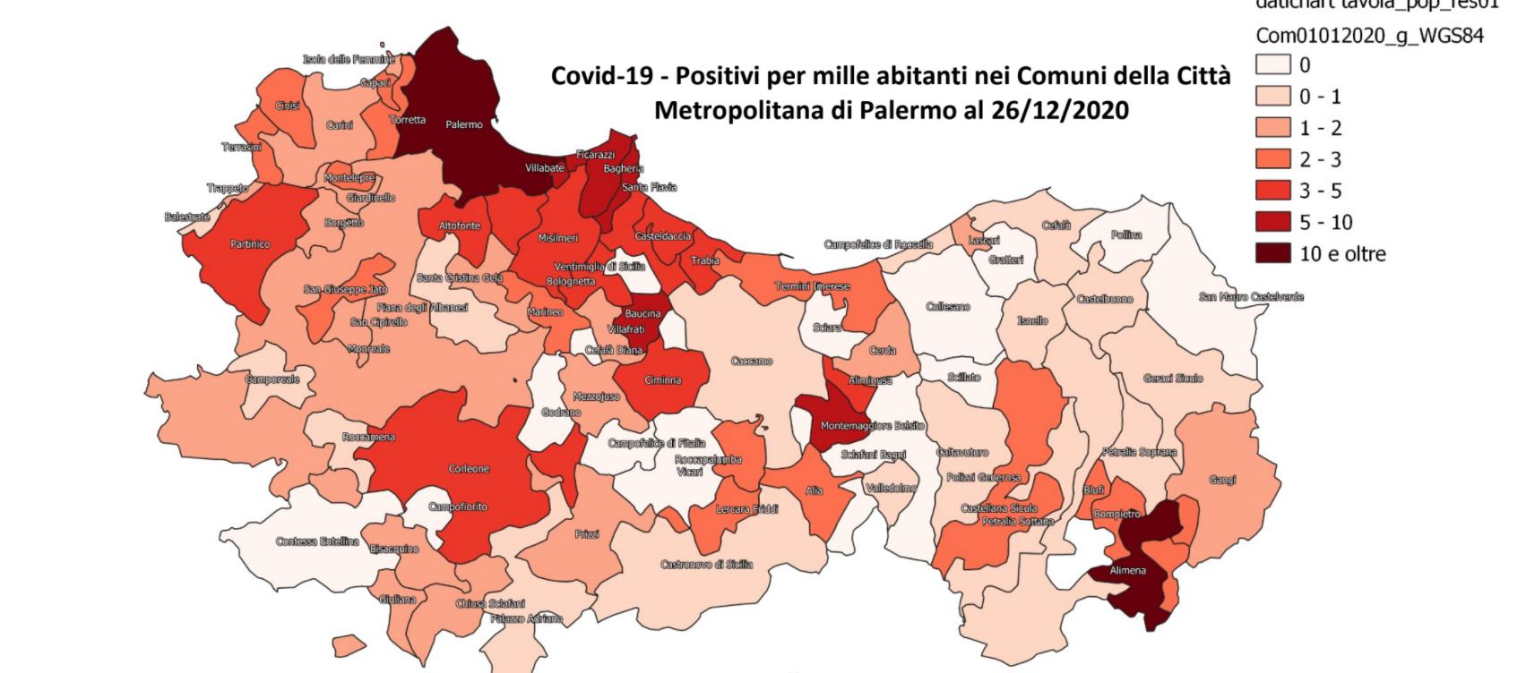 Cartina Sicilia Con Tutti I Comuni.Coronavirus Nell Ultimo Mese Positivi In Calo In Provincia Di Palermo I Numeri Di Tutti I Comuni Giornale Di Sicilia