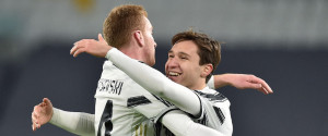 Kulusevsky e Chiesa autori di due dei quattro gol della vittoria della Juve contro la Spal