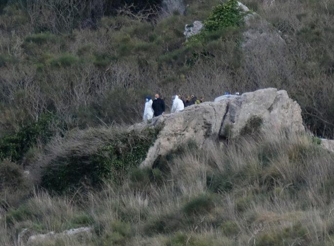Il luogo del ritrovamento della giovane tra le campagne di Caccamo (foto Igor Petyx)