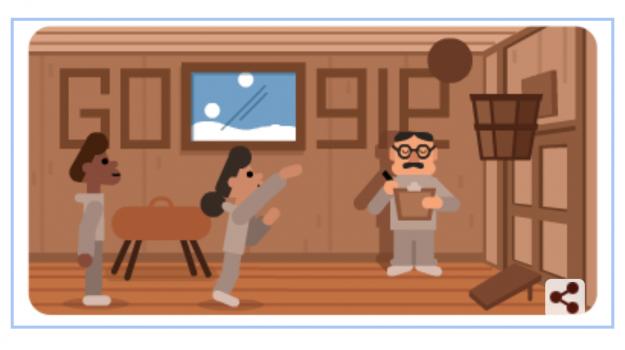 basket, doodle di google, James Naismith, Sicilia, Sport