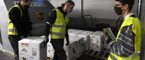 Consegna di dosi di vaccino Pfizer