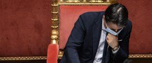 Il premier Giuseppe Conte oggi in Senato