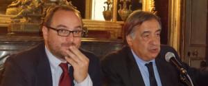 Giusto Catania e Leoluca Orlando