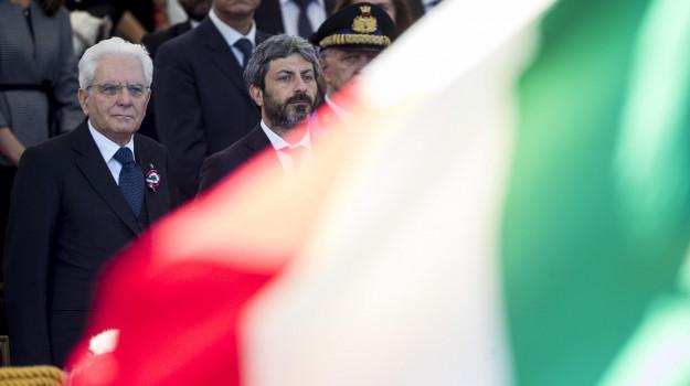 governo, Lega, m5s, Quirinale, Matteo Salvini, Roberto Fico, Sergio Mattarella, Vito Crimi, Sicilia, Politica