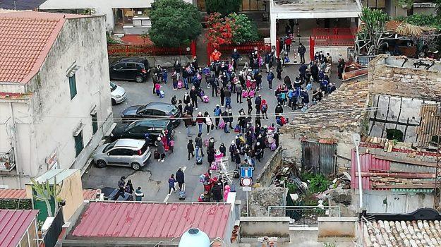 Assembramenti, scuola, Palermo, Cronaca