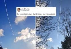 Una grossa esplosione nei cieli inglesi: il boom sonico del caccia   sentito da milioni di persone Una forte esplosione ha scosso la Gran Bretagna nella giornata di martedì. Il boato è stato provocato da un caccia della RAF - CorriereTV