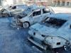 Mega falò di auto a Fontanelle, indagano i carabinieri