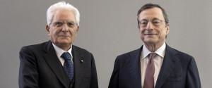 Il presidente della Repubblica Sergio Mattarella con Mario Draghi