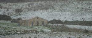 Imbiancato Monte Genuardo, tra le province di Palermo e Agrigento