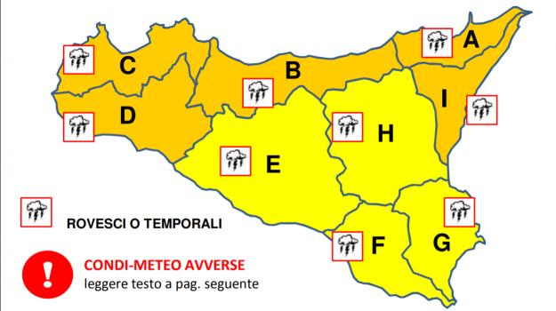 allerta arancione, Maltempo, Sicilia, Cronaca