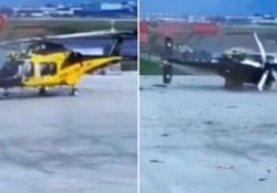 Bolzano: elicottero della Finanza (da 10 milioni di euro) si rovescia in fase di decollo L'incidente è avvenuto sabato in aeroporto  durante un addestramento: non ci sono feriti - CorriereTV
