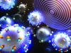Rappresentazione artistica della reazione fra particelle di cerio e platino, viste con la nuova linea di microscopia a raggi X Cosmic (fonte: Chungnam National University)