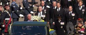 Il corteo funebre per il principe Filippo
