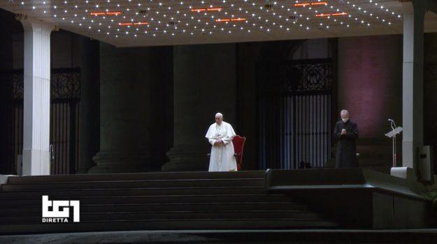 papa, Pasqua, via crucis, Sicilia, Cronaca