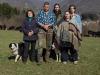 Moda: famiglia di allevatori lunigianesi posa per D&G