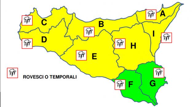 allerta gialla, meteo sicilia, previsioni meteo, Sicilia, Meteo