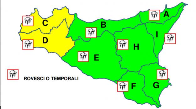 allerta gialla, meteo pasquetta, previsioni meteo, Sicilia, Meteo