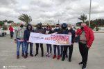 Il gruppo di co.ri. alla manifestazione del 16 aprile a Pozzallo - Foto di Sofia Accardo