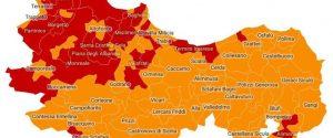 La mappa delle zone rosse e arancioni in provincia, elaborata dall'Ufficio statistica del Comune di Palermo