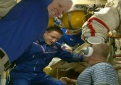 Iss, il saluto al volo Soyuz: Rubins, Ryzhikov e Kud-Sverchkov tornano a casa I tre astronauti rientrano sulla Terra dopo 185 giorni nello spazio - Ansa