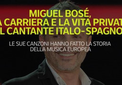 Miguel Bosé, la carriera e la vita privata del cantante italo-spagnolo Le sue canzoni hanno fatto la storia della musica europea - Ansa