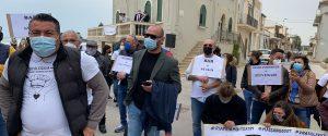 La protesta dei ristoratori di Co.Ri.Sicilia nei luoghi di Montalbano nel Ragusano