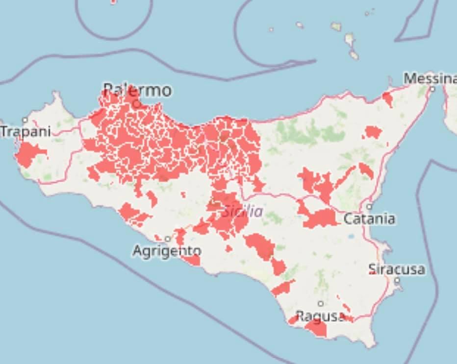 Cartina Sicilia Province.La Sicilia Terza Regione Per Contagi Zona Rossa Vicina Sono 110 I Comuni In Lockdown Giornale Di Sicilia