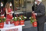 Banca agricola popolare di Ragusa, successo per la vendita delle gardenie dell'Aism