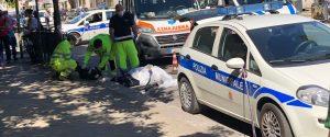 Incidente in via Duca della Verdura a Palermo (foto di Ludovico Gippetto)