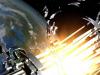 Rappresentazione artistica dellesplosione in orbita dello stadio superiore di un razzo, i cui frammenti si aggiungono ai 15.000 detriti spaziali che circondano la Terra (fonte: ESA)