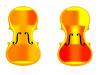 A sinistra il profilo di un violino storico (© 2008 Stoel, Borman), a destra tre esempi di tavole del dataset (fonte: Politecnico di Milano)