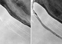 L'iceberg A-76 delle dimensioni di un'isola si è staccato dall'Antartide La gigantesca lastra di ghiaccio occupa 4320 chilometri quadrati: le immagini dal satellite - Ansa