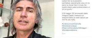 """Strage di Capaci, l'appello di Ligabue: """"Lenzuolo bianco per dire no alla mafia"""""""