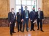 L'accordo tra Politecnico e Stm siglato alla presenza del ministro Giorgetti (fonte: Polimi)