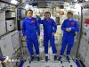 I tre taikonauti a bordo del modulo Tianhe della stazione spaziale cinese. Da sinistra  Tang Hongbo, il comandante Nie Haisheng e Liu Boming (fonte: CCTV)