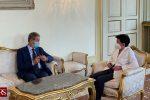 Nello Musumeci e il prefetto di Caltanissetta Chiara Armenia