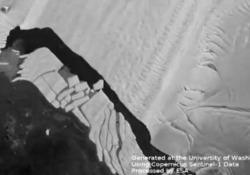 Antartide, il ghiacciaio di Pine Island si sbriciola rapidamente: il timelapse  La piattaforma galleggiante ha perso un quinto della sua estensione in soli tre anni - Ansa