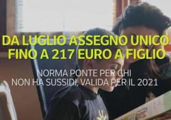Da luglio assegno unico fino a 217 euro a figlio Norma ponte per chi non ha sussidi, valida per il 2021 - Ansa