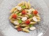 piatto di pasta : Mezze Penne, melanzana, anguria arrostita, menta e mandorla_1