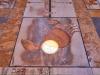Transito del disco solare sulla meridiana della Basilica di Santa Maria degli Angeli a Roma, nel  solstizio destate 2020 (fonte: Gianluca Masi, The Virtual Telescope Project)