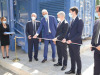Linaugurazione del nuovo laboratorio dellIss, con il ministro della Salute Roberto Speranza i vertici dellIss, Silvio Brusaferro e Andrea Piccioli