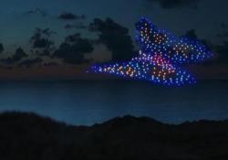 G7, lo sciame di droni di Greenpeace sorvola il cielo della Cornovaglia L'iniziativa per chiedere un'azione di tutela per il pianeta - Ansa