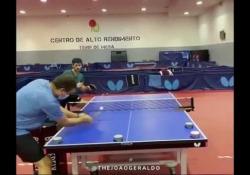 Ping pong, l'allenamento a colpi chirurgici Joao Geraldo, campione portoghese della disciplina - Dalla Rete
