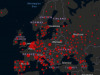 La situazione della pandemia di Covid-19 in Europa sulla base dei dati della Johns Hopkins University (fonte: CSSE/JHU)