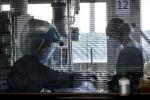 Un reparto di terapia intensiva in una foto di archivio