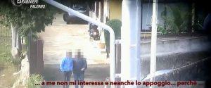 Un fermo immagine tratto dalle intercettazioni dei carabinieri di Palermo
