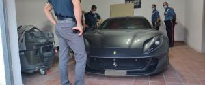 La Ferrari sequestrata nell'operazione Cogenesi